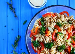 Spring Pasta Salad with Herb Sauce