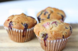 Strawberry and Blueberry Muffins