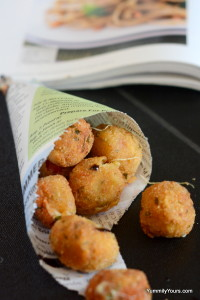 Stuffed Tomato Cheese Balls