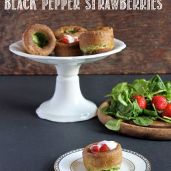 Sweet Spinach Strawberry Popovers