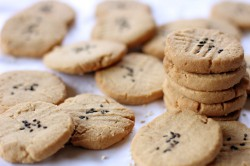 Tahini Almond Cookies Recipe