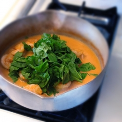 Thai Curry with Shrimp and Spinach Recipe