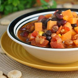 Three Bean Sweet Potato Chili Recipe