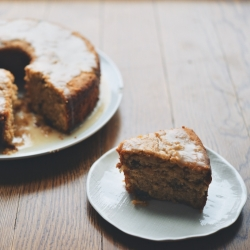Tipsy Apple Parsnip Cake with Cider Glaze Recipe