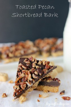 Toasted Pecan Shortbread Bark Recipe