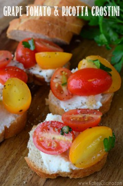 Tomato and Ricotta Crostini Recipe