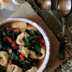 Tortellini Spinach and Bean Soup Recipe