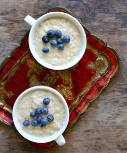 Vanilla Blueberry Rice Pudding Recipe