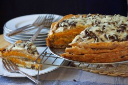 Whole Wheat Crepe Lasagna with Mushroom Duxelles Butternut Squash