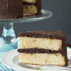 Yellow Layer Cake with Chocolate Frosting Recipe