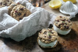 Bourbon Thyme Raisin Cookies