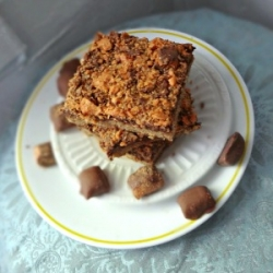 Butterfinger Fudge Cookie Bars Recipe