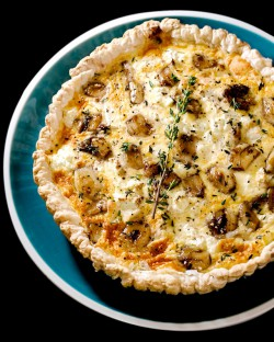 Caramelized Garlic and Cheese Tart