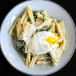 Casarecce with Asparagus and Egg
