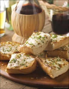 Cheesy Roasted Garlic Bread
