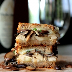 Chicken Mushroom Marsala Grilled Cheese Sandwich Recipe