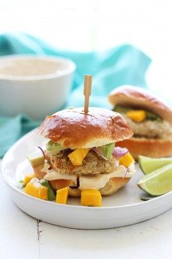 Coconut Crusted Mahi Mahi Sliders