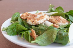 Fried Goat Cheese Spinach Salad