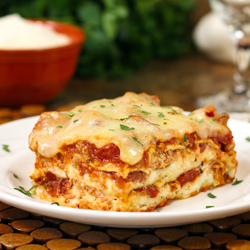 40 Min Easy Cheesy Meat Lasagna