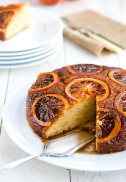 orange plum cake tatin
