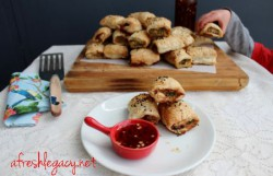 Pork Vegetable Sausage Rolls Recipe