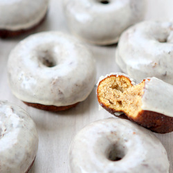 Pumpkin Spice Cake Doughnuts with Spiced Maple Glaze Recipe