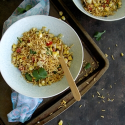 Roasted Corn and Peanut Chaat