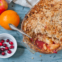 Spiced Cranberry Apple Crisp