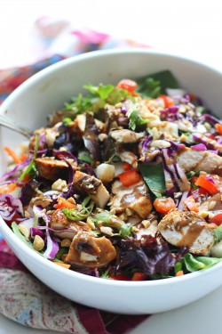 Spicy Chicken and Veggie Salad
