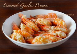 Steamed Garlic Prawns Recipe