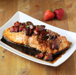 Strawberry Balsamic Salmon