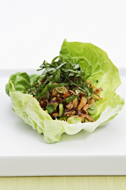 Lettuce boats with spicy shiitake