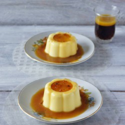 Pannacotta with candy sauce