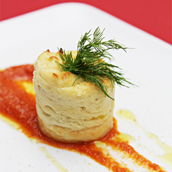 Parsnip mousse with Gorgonzola