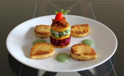Polenta Leaves with Zucchini Mille-Feuille