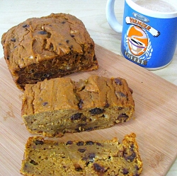 Pumpkin-Raisin Bread
