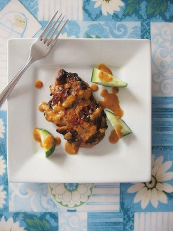 Satay-Spiced Chicken Chops