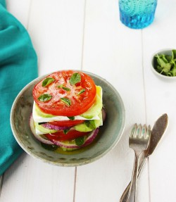 Stacked Greek Salad