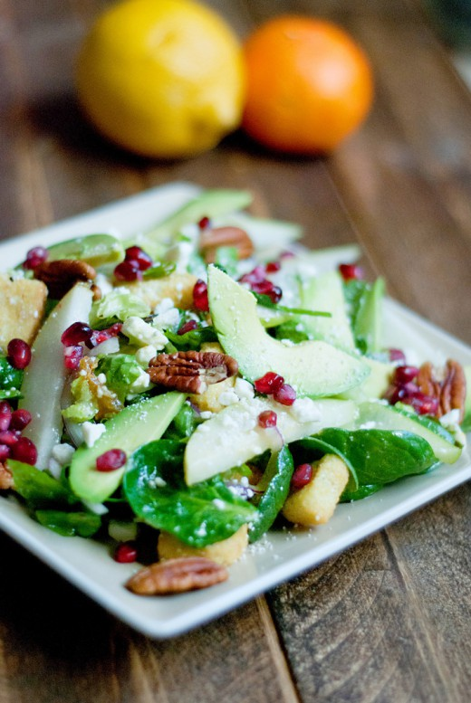 Winter Salad with citrus dressing