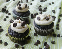 Mint Chocolate Cupcakes w/ Frosting