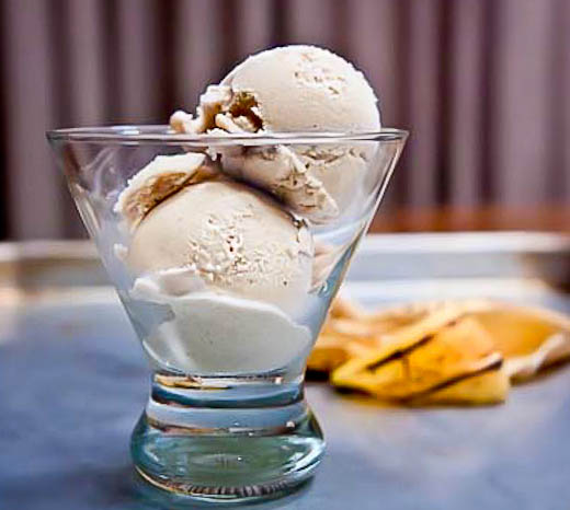 Roasted Banana Bourbon Ice Cream