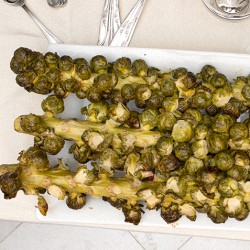 Soy-Ginger Brussel Sprouts Stalks