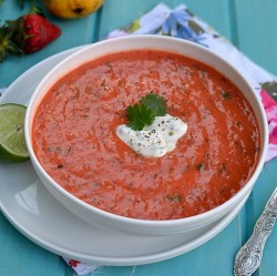 Strawberry Mango Gazpacho