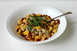 Succotash with Creamy Barbecue Lime Dressing