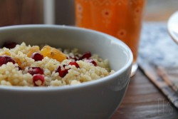 Couscous with pomegranate