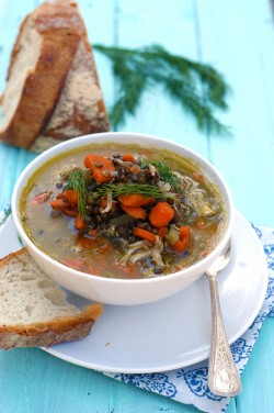 Disappearing Chicken Lentil Soup