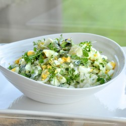 New potatoes and green beans salad
