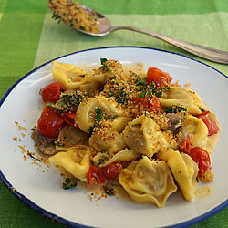Tortellini with Lemon Crumbs