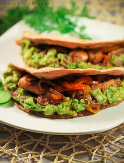 wheat tortilla with grilled chicken