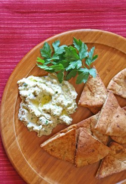 Baba Ghanoush with Cumin Chips